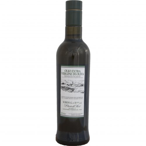 Bottle 0,500 liter Piandisco Extra virgin Olive Oil 100% Made in Italy - Front
