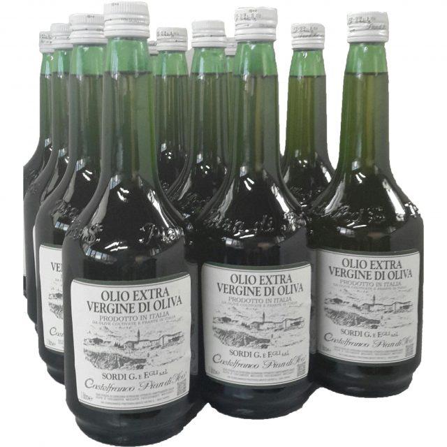 conf. 12 bottiglie da 1 litro - piandiscò olio extra vergine di oliva 100% prodotto italia nuovo raccolto 2017-2018