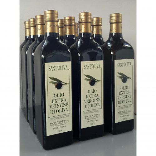 Pack of 12 bottles of 1 liter - Sant'Oliva Extra virgin olive oil