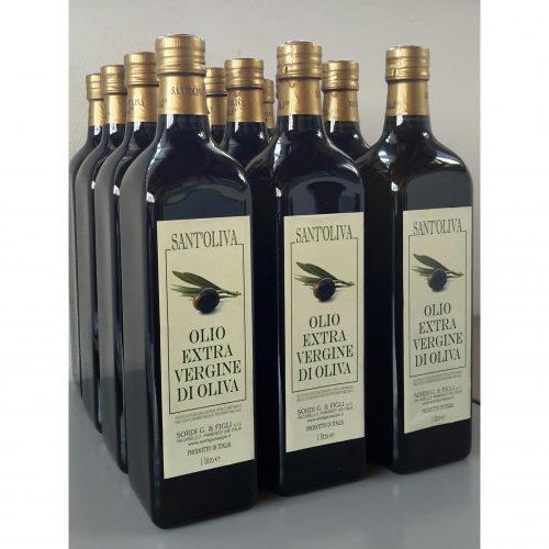 Conf. 12 bottiglie da 1 litro - Sant'Oliva Olio extra vergine di oliva