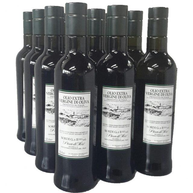 Conf. 12 bottiglie LT 0,500 - Piandisco Olio extra vergine di oliva 100% Italia NUOVO RACCOLTO 2017-2018