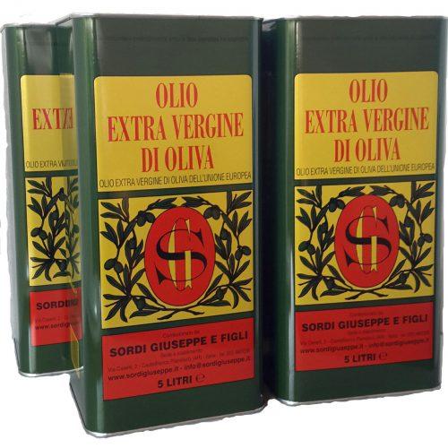 Conf. 4 lattine LT 5 - Olio extra vergine di oliva comunitario