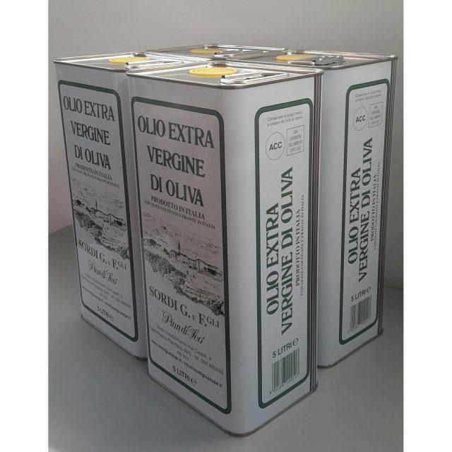 Conf. 4 lattine LT 5 - Piandisco' Olio extra vergine di oliva