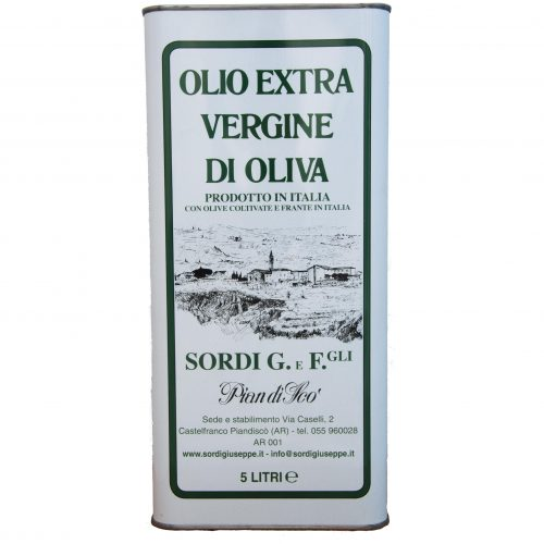 Single Can - Pack of 4 cans of 5 liters - Piandisco 'Extra virgin olive oil