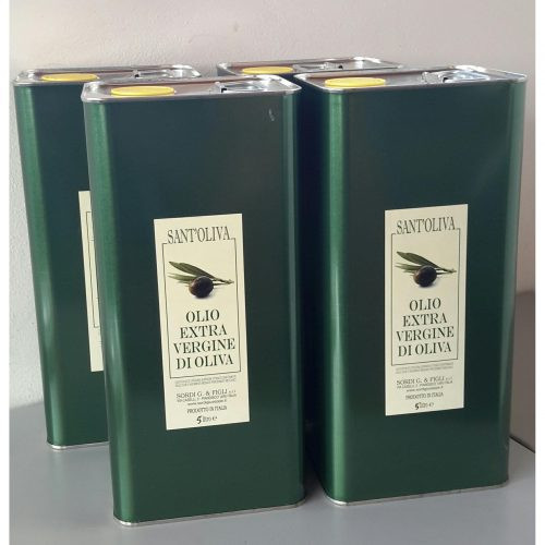 Pack of 4 cans of 5 liters - Sant'Oliva Extra virgin olive oil